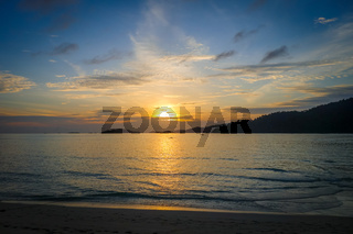 Tropical beach at sunset in Koh Lipe, Thailand