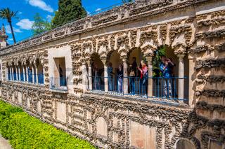 Real Alcazar's Galeria de Grutesco the Royal Palace Sevilla Spain.