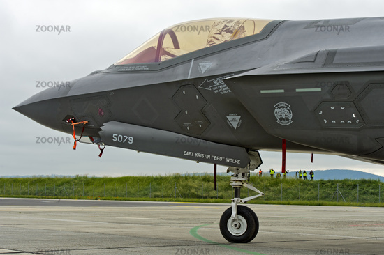 Cockpit of the all-weather stealth multirole fighter Lockheed Martin F-35A Lightning II,US Air Force