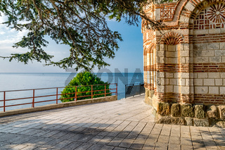 Church of St John Aliturgetos in Nessebar ancient city on the Bulgarian Black Sea Coast. Nesebar or Nesebr is a UNESCO World Heritage Site. The old church on a beautiful sunny day with blue sky