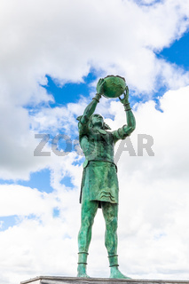 Colombia Zipaquira statue representing offer of Zipa Tisquesusa