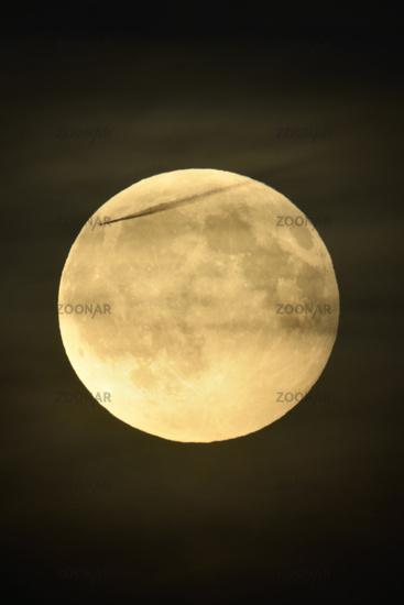 Full Moon shining bright in dark night