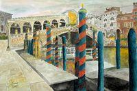 Venice with Rialto Bridge
