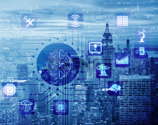 Smart city concept powered by artificial intelligence