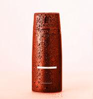 aerosol deodorant, shower gel, Black balloon, deodorant, shaving foam, water drops, surface,