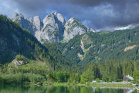 view to Dachstein Mountain in Gosautal,Salzkammergut,upper Austria