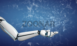 Robot Hand Welcome Networks