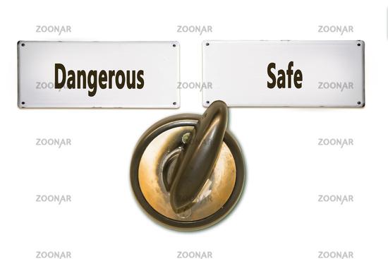 Street Sign Safe versus Dangerous