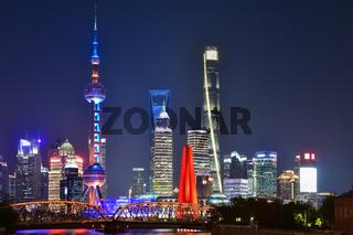 shanghai in evening