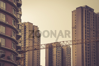 Building flats in the Chengdu city