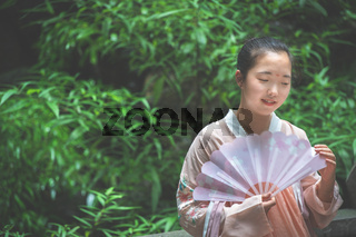 Portrait of a young chinese bride