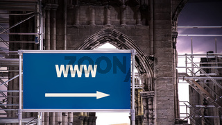 Street Sign to WWW