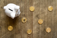 Bitcoin saving and investment concept