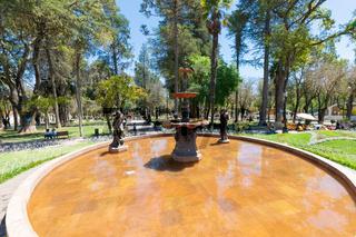 Sucre Bolivia Bolivar park monumental fountain