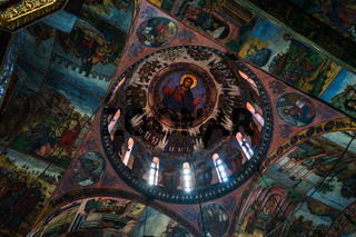 The Bachkovo Monastery of the Dormition of the Theotokos. Dome of the Cathedral.