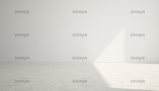 Empty white space room with light .