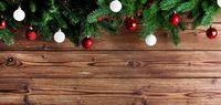 Christmas fir tree and decor