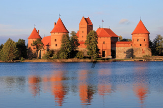 Trakai Castle, lake Galve, Trakai Island, Lithuania