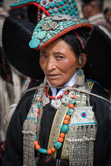 Elderly Indian woman in Ladakh