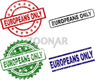 Scratched Textured EUROPEANS ONLY Stamp Seals