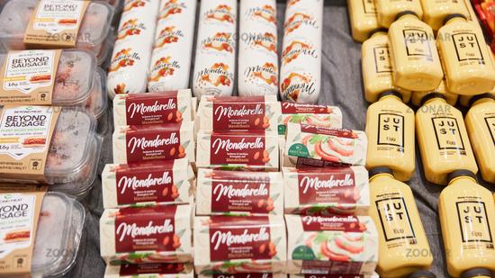 KÖLN, OKTOBER 2019: Fleischfreie Alternativen wie Beyond Meat