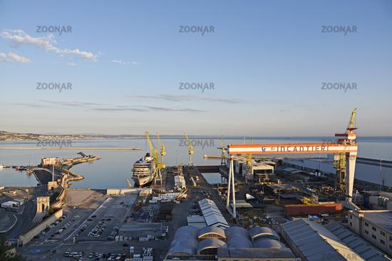dockyard, industrial facilities, port, Ancona, Italy, Europe