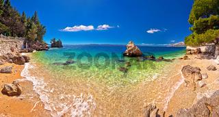 Idyllic beach in Brela panoramic view