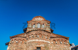 Church of St Stephen in Nessebar ancient city on the Bulgarian Black Sea Coast. Nesebar or Nesebr is a UNESCO World Heritage Site. A Byzantine architecture old church in Nessebar, Bulgaria