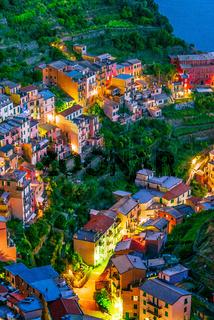 Picturesque town of Manarola