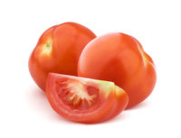 Tomato isolated on white background with clipping path