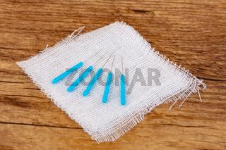 Acupuncture Needles with gauze bandage