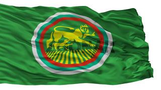 Stara Zagora City Flag, Bulgaria, Isolated On White Background