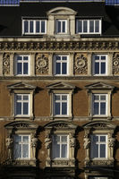 Classicist house facade in the district of St. Georg