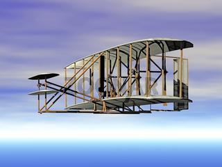 antikes Doppeldecker Flugzeug
