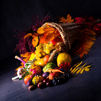 The beautiful and autumnal cornucopia