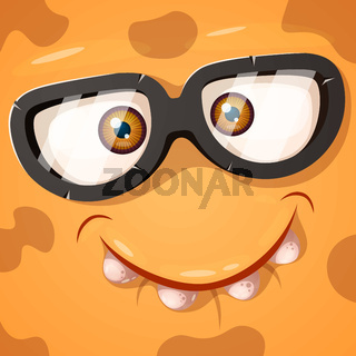 Cute, funny, crazy monster character. He is nowhere to be found illustration. Printing on T-shirts.