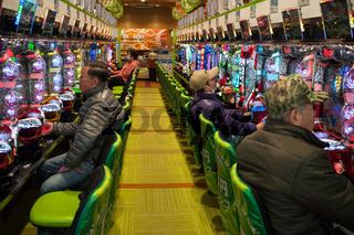 Kyoto, Japan, Pachinko Spielhalle