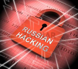 Russian Hacking Election Attack Alert 3d Illustration