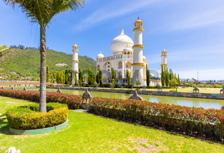 Colombia Bogota Jaime Duque Park  Taj Mahal and lake