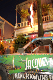 NEW ORLEANS,LA/USA -03-23-2019: Exterior of Jacques-Imos, a famous restaurant in New Orleans