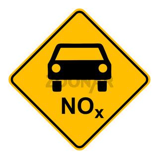 NOx Auto und Schild - NOx car and road sign