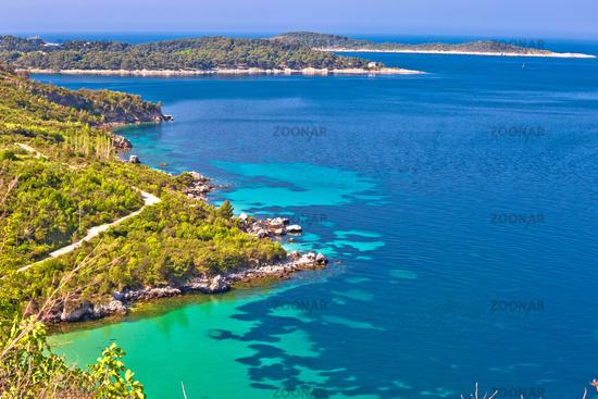 Dubrovnik archipelago coastline view near Cavtat