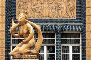Schmuckbrunnen im Badehaus 2 der Jugendstil Kuranlage Bad Nauheim