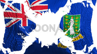 British Virgin Islands torn flag fluttering in the wind