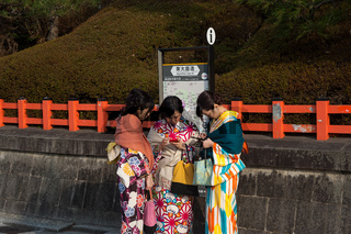 Kyoto, Japan, Junge Frauen im Kimono