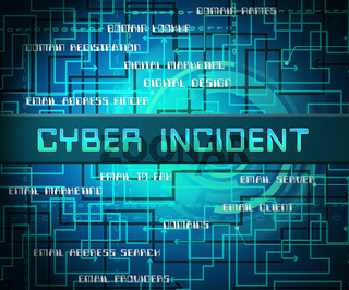 Cyber Incident Data Attack Alert 2d Illustration