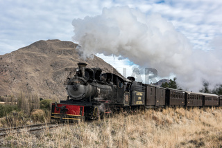 La Trochita (official name: Viejo Expreso Patagonico), the Old Patagonian Express, in Esquel, Patagonia, Argentina