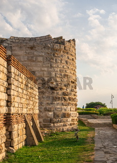 The fortress walls of Nesebar, Bulgaria