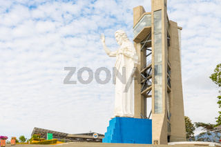statue of Christ in the locality of Floridablanca Santisimo Mountain Colombia