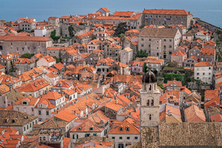 View of the old houses in Dubrovnik